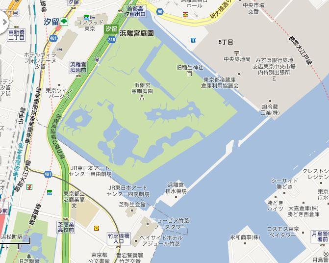 浜離宮周辺地図