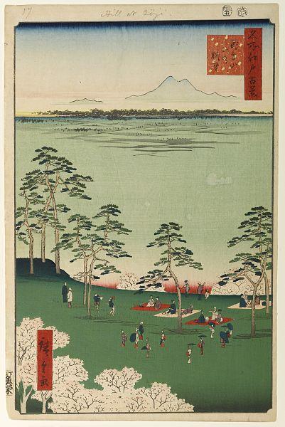 歌川広重『名所江戸百景』より「飛鳥山北の眺望」