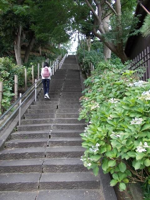 妙見堂へ至る階段