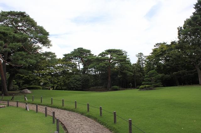 本館(管理棟)前の芝生_3