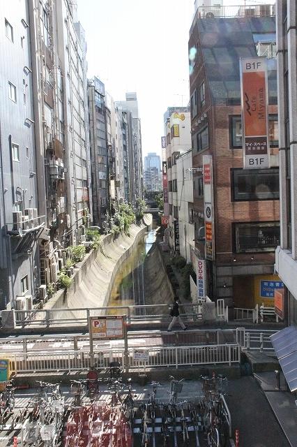川の流れが見える渋谷川_2