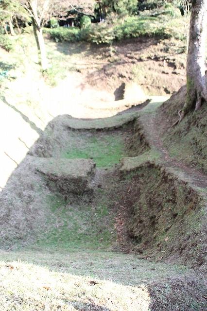 本丸堀の畝堀_2