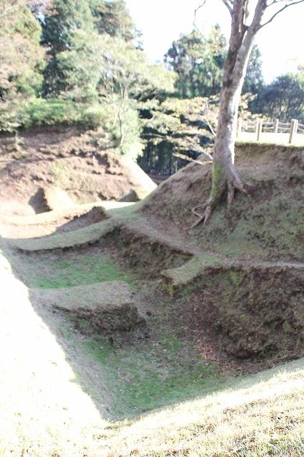 本丸堀の畝堀_3