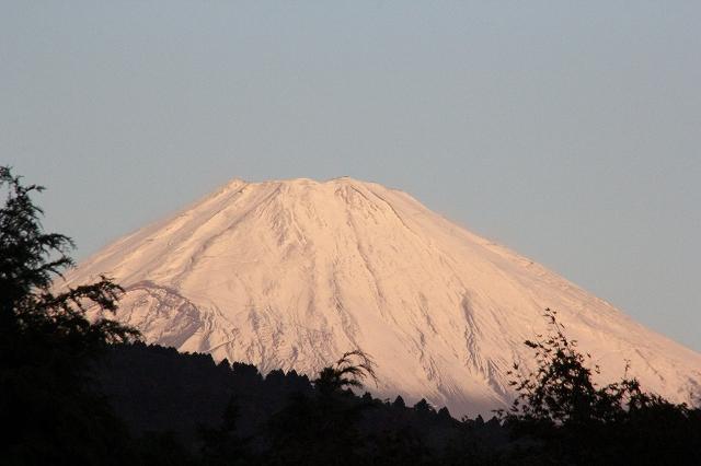 ブルーモーメントのあとの富士山_2