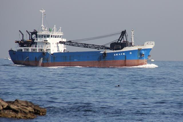 岸近くを航行する船舶