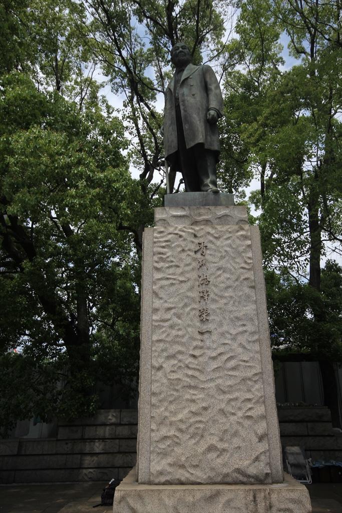 渋沢栄一翁の銅像_1