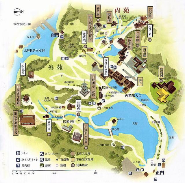 三渓園map