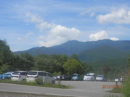 夏のバラギ湖より四阿山