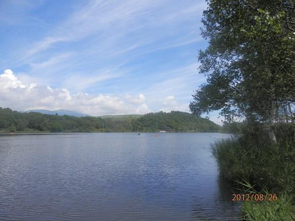 夏季、バラギ湖