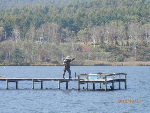 バラギ湖のつり