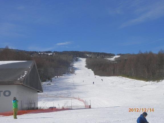 12/14スキー場オープン