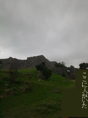 遠くから見た石垣