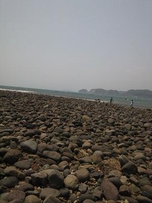 撤収直前の和賀江島