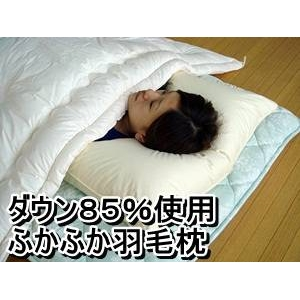 ダウン85%使用ふかふか羽毛枕 大サイズ