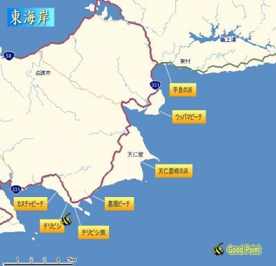 s東海岸地図