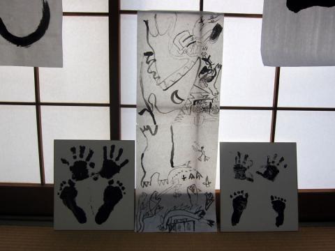孫の絵と手形