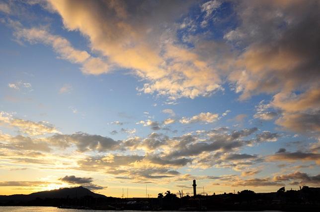 本日の夕日(2)