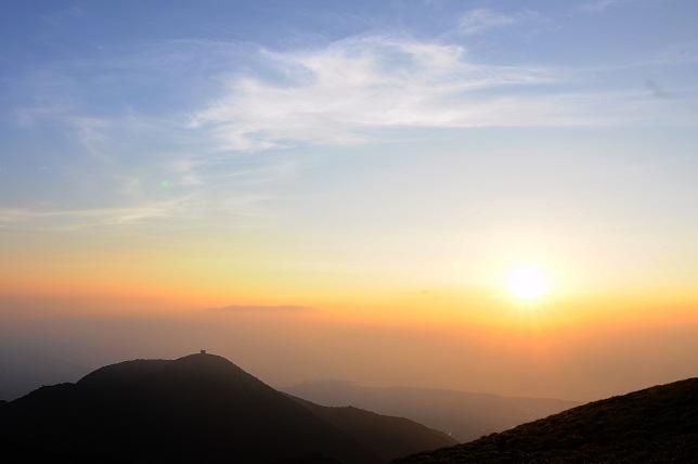 山頂の夕暮れ(1)