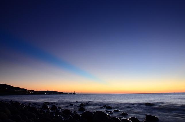ゴロタ浜の夕暮れ(4)