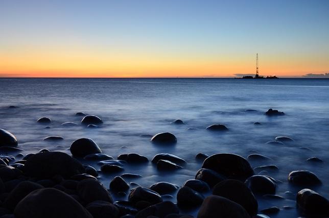 ゴロタ浜の夕暮れ(2)