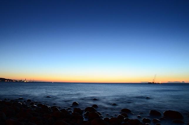 ゴロタ浜の夕暮れ(5)
