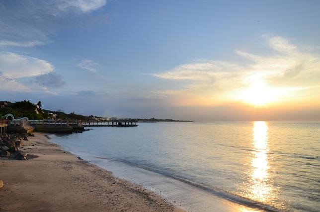 去りゆく夏、暮れる海(1)