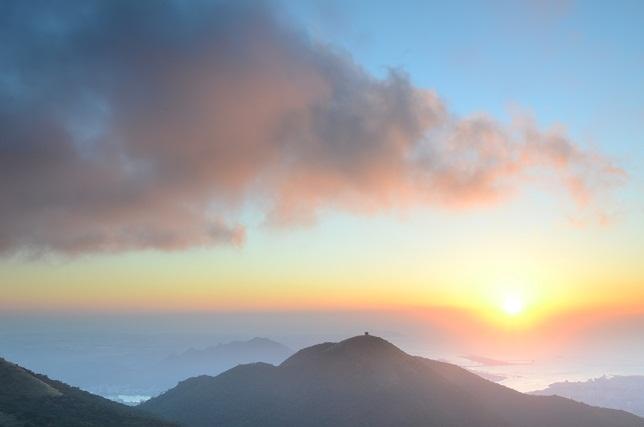 秋山の夕焼け空(2)