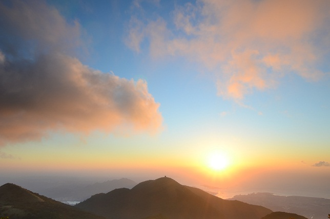 秋山の夕焼け空(1)