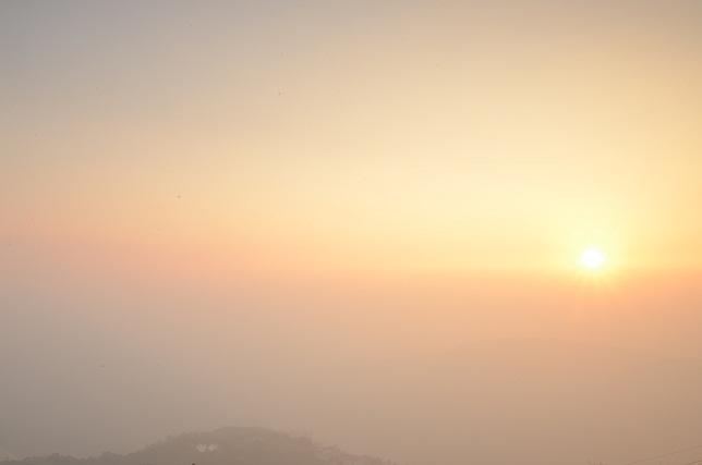 霧のち晴れ