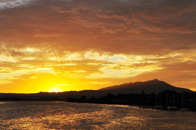 黄金色の夕日(1)