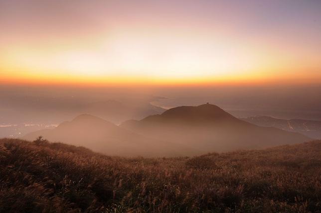 霧と夕暮れ(2)