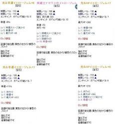 黄ジェム1~4+HP