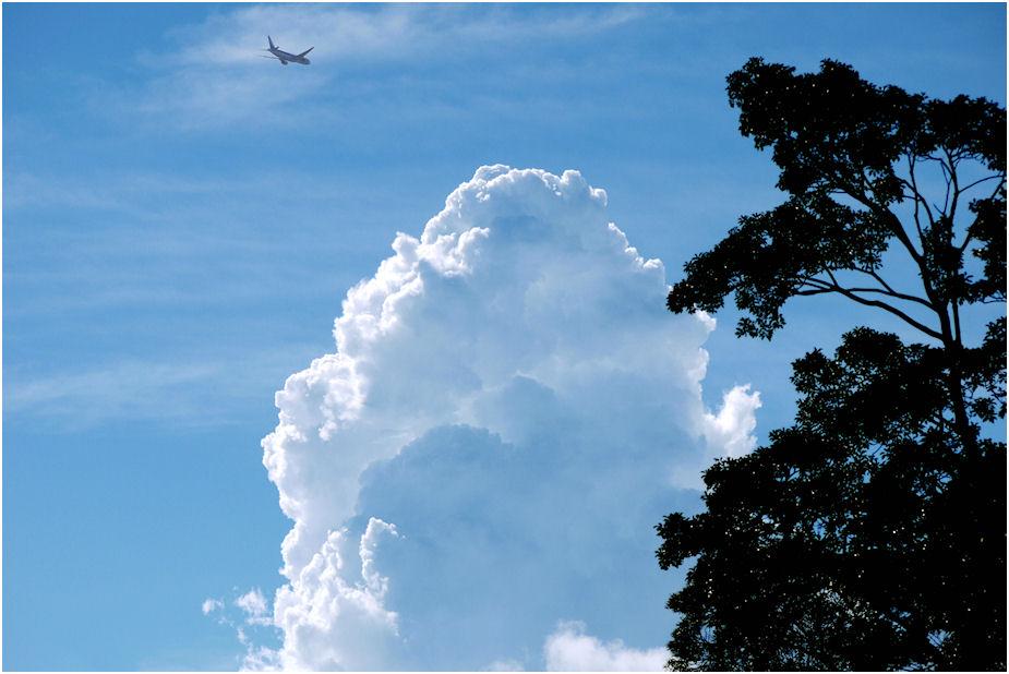 ボギ里上空飛行機雲