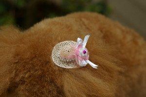 ナナ帽子の髪飾り
