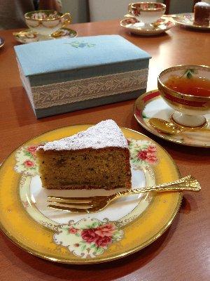 刺繍教室のお茶タイム
