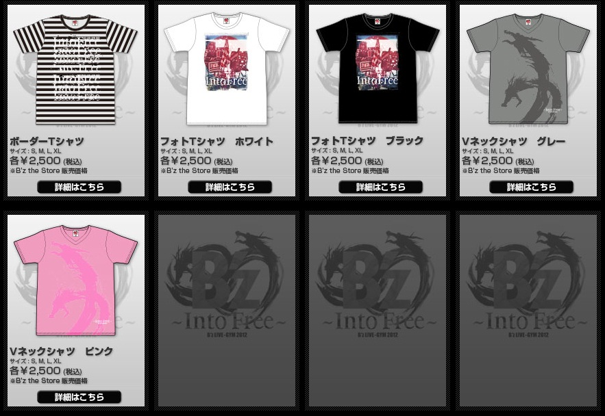 Bz LIVE-GYM 2012 TOUR GOODS 2