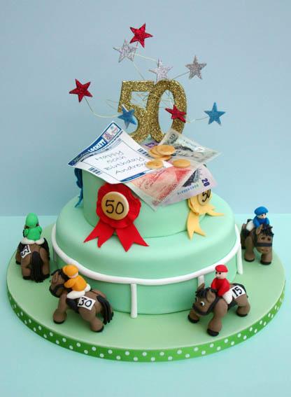 Horse And Jockey Cake Decorations