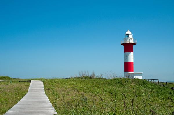 紅白の灯台