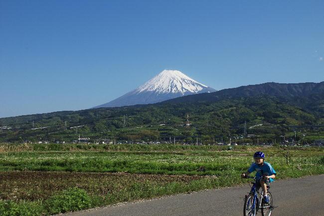 富士山と子ども