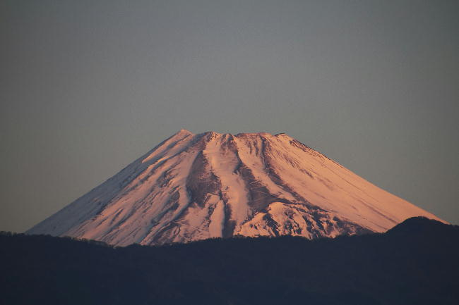 6日朝の富士山