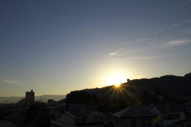 6日の日の出
