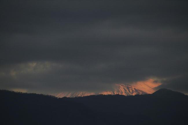 7日今朝の富士山