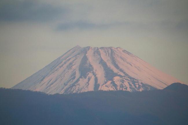 8日今朝の富士山1