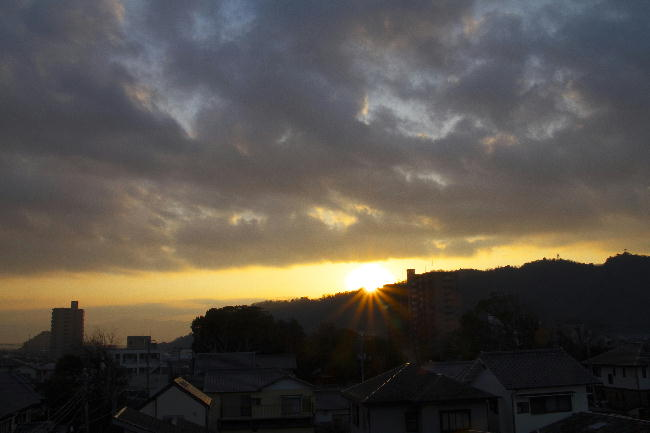 9日の日の出