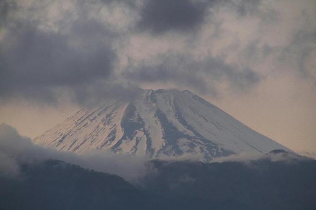 11日の夕方の富士山1