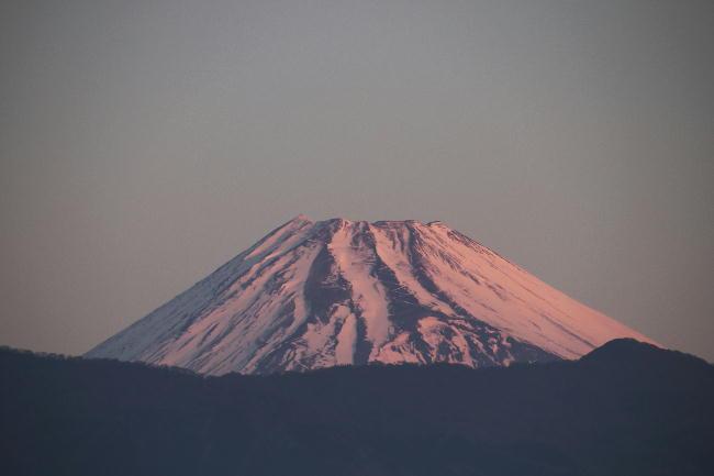 13日今朝の富士山