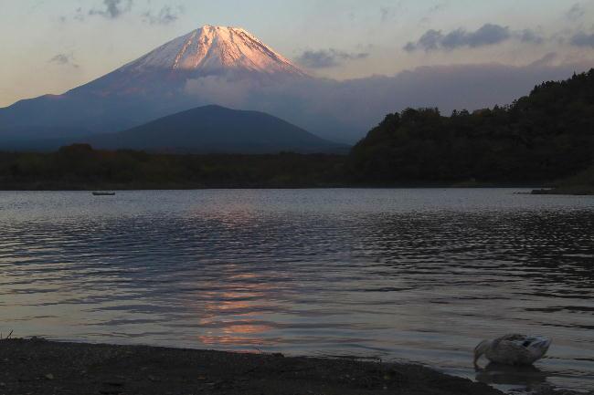 精進湖の夕景1