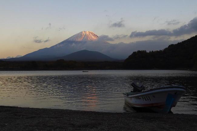 精進湖の夕景3