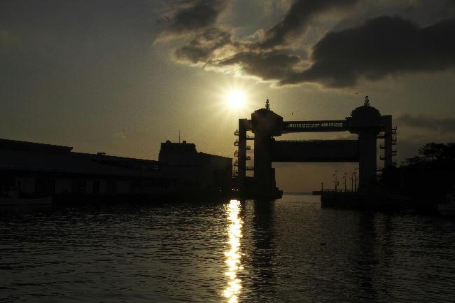 ビューオと夕日