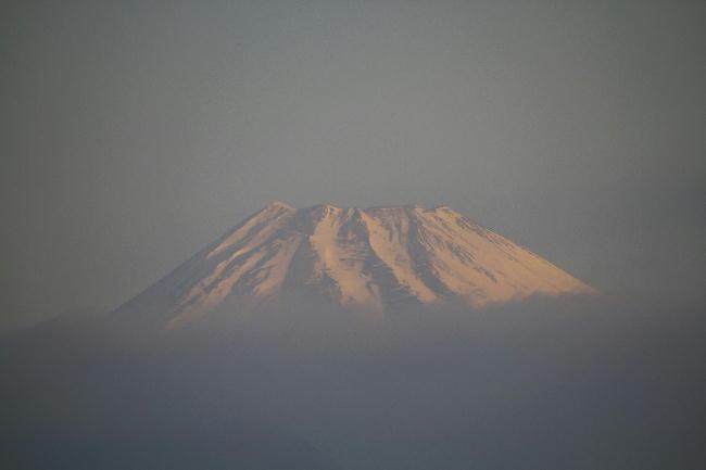 2-1日 7-03 今朝の富士山